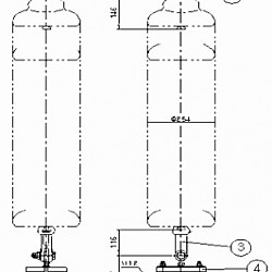 횡진방지용 점퍼지지 애자장치(복도체)