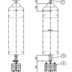 횡진방지용 점퍼지지 애자장치(단도체)